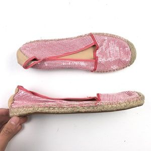 Franco Sarto Striped Espadrille Shoes DR02049